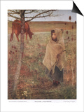France, Small; Girl; Fauvette; Cow; Rural; Poor; Clothing Posters by Jules Bastien-Lepage