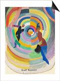 Political Drama, 1914 Poster af Robert Delaunay