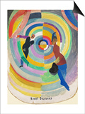 Political Drama, 1914 Poster by Robert Delaunay