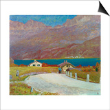 Landscape in Engadine Art by Giovanni Giacometti