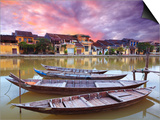 View on the Old Town of Hoi an from the River. Boats in the Foreground. Prints by  GoodOlga