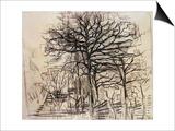 Study of Trees Affiches par Piet Mondrian