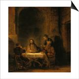 The Supper at Emmaus, 1648 Art by  Rembrandt van Rijn