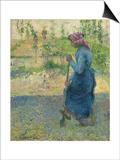 Peasant Digging; Paysanne Bechant, 1882 Poster par Camille Pissarro