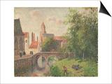 Old Bridge, Bruges Affiches par Camille Pissarro