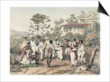Group of Black Dancers Art by Jean Baptiste Debret