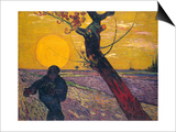 The Sower at Sunset, 1888 Prints by Vincent van Gogh