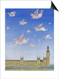 Pigs Might Fly Poster by Rebecca Campbell