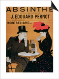 Absinthe Extra Superior', Produced by J. Edward Pernot for Montbeliar, Liquer Mont-Christ Prints by Leonetto Cappiello