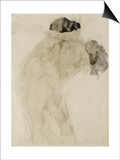 Two Embracing Figures Posters af Auguste Rodin