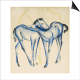 Two Blue Horses Prints by Franz Marc