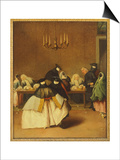 The Ridotto, Venetian Masks Posters by Pietro Longhi