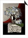 Classical Hydrangea Lámina por Sandra Willard