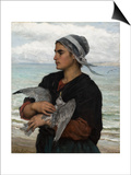 The Wounded Sea Gull, 1878 Prints by Jules Breton
