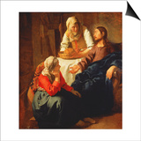 Christ in the House of Martha and Mary, C.1654-56 Posters by Jan Vermeer