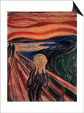 The Scream, 1893 Posters av Edvard Munch