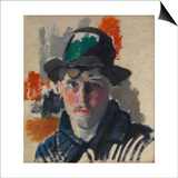 Self Portrait with Green Hat Print by Rik Wouters