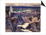 Cathedral Rock, Rhum, from Iona Prints by Francis Campbell Boileau Cadell