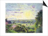 Sunset at Eragny, 1891 Affiche par Camille Pissarro