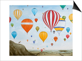 Hot Air Rises, 2012 Posters par Rebecca Campbell