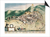 Map of Assisi from Theatrum Civitatum Et Admirandorum Italiae Posters by Joan Blaeu