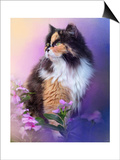 Calico Kitty in the Garden Posters by Jai Johnson