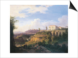 Italy, Naples, View of Villa Ruffo Homestead in Capodimonte, 1826 Prints by Salvatore Fergola