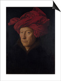 Portrait of a Man, 1433 Prints by  Jan van Eyck