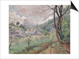 Apple Blossom, Riversbridge Farm, Blackpool, 1921 Prints by Lucien Pissarro