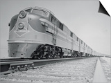 Streamliner Traveling along the Illinois Central Line Prints
