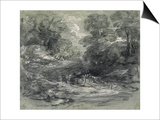 Landscape with Farm Cart on a Winding Track Between Trees Prints by Thomas Gainsborough