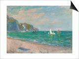 Boats Below the Pourville Cliffs; Bateaux Devant Les Falaises De Pourville, 1882 Prints by Claude Monet