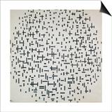 Piet Mondrian - Komposition Mit Linien, 1916 Umělecké plakáty