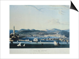 View of the Ancient Port of Genoa from the Sea Posters by Ambroise-Louis Garneray