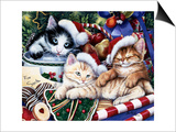 Meowy Christmas 2 Posters by Jenny Newland