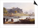 Ruins of the Port at Juanpore on the River Goomtee, 1824 (Colour Aquatint) Posters by Henry Salt