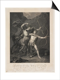 The Education of Achilles by the Centaur Chiron Posters by Charles-Clement Bervic
