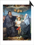 St Benedict and St Scholastica Prints by Domenico Corvi