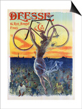 Vintage French Poster of a Goddess with a Bicycle, C.1898 Prints by  Pal