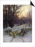 Joseph Farquharson - The Sun Had Closed the Winter Day, 1904 - Poster