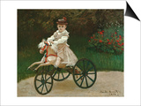 Jean Monet on His Hobby Horse, 1872 Posters by Claude Monet
