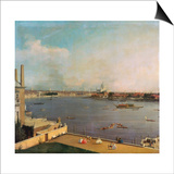 London, Thames and City as Seen from the Richmond House, 1746-1747 Posters by  Canaletto