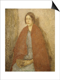 Young Woman in a Red Shawl Posters by Gwen John