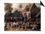 Country Celebration Print by David Teniers the Younger