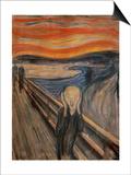 The Scream, 1893 Poster av Edvard Munch