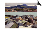 Ben More, from Above Port Beag Na Sligeanach Print by Francis Campbell Boileau Cadell