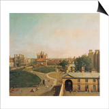London, Whitehall and Privy Garden as Seen from the Richmond House, 1746-47 Art by  Canaletto