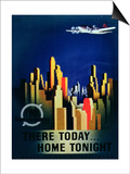 There Today, Home Tonight', Advertisement for Twa, the Transcontinental Airlines Prints