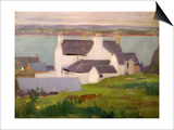 The Artist's Studio, Iona, from St. Columba Hotel Prints by Francis Campbell Boileau Cadell