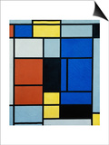 Tableau No, 1, 1921-25 Art by Piet Mondrian